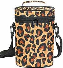 FANTAZIO Flaschenkühler mit Leopardenmuster,