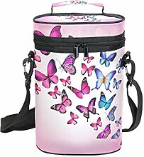 FANTAZIO Flaschenkühler mit Schmetterlingsmotiv,