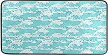 FANTAZIO Minimalistischer Teppich mit Meereswellen