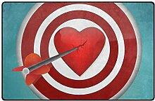 FANTAZIO Teppich Breaking Heart with The Dart