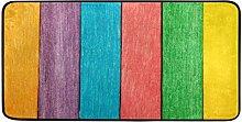 FANTAZIO Teppich, bunt, Holz-Muster, rutschfeste
