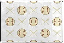Fantazio Teppich für Baseball-Hintergrund,
