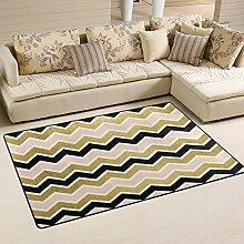 FANTAZIO Teppich für Eingangsbereich, gesponnene,