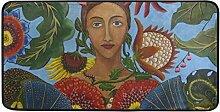 FANTAZIO Teppich für Frauen in den Blumen,