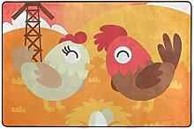 Fantazio Teppich für Hahn und Hahn, gerader
