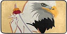 FANTAZIO Teppich/Fußmatte mit Adler und Federn,
