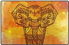 FANTAZIO Teppich/Fußmatte mit Elefanten-Motiv,