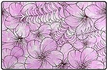 FANTAZIO Teppich/Fußmatte mit violetten