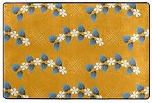FANTAZIO Teppich-Girlande mit gelbem Hintergrund,