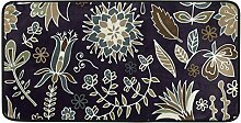 FANTAZIO Teppich, klassisch, Dunkles Blumenmuster,
