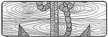 FANTAZIO Teppich mit Anker und Seil, 183 x 61 cm