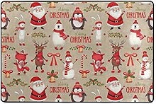 Fantazio Teppich mit Aquarell-Weihnachtsmuster,