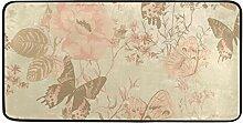 FANTAZIO Teppich mit Blumen-Schmetterlingen und