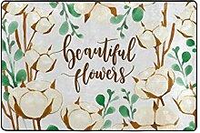 FANTAZIO Teppich mit Blumenmuster, gerade,
