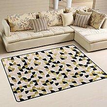 FANTAZIO Teppich mit Blumenmuster, glatt, für