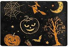 Fantazio Teppich mit dunklem Halloween-Muster,