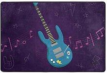 FANTAZIO Teppich mit E-Gitarren-Muster, gerader