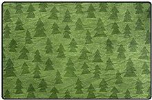 FANTAZIO Teppich mit Falten Weihnachtsbäumen