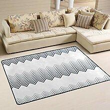 FANTAZIO Teppich mit Farbverlauf, geometrische