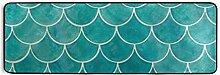 FANTAZIO Teppich mit Fischschuppen-Motiv, 183 x 61