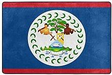 Fantazio Teppich mit Flagge von Belize, gerader