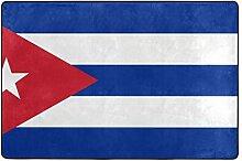 Fantazio Teppich mit Flagge von Kuba, gerader