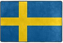 Fantazio Teppich mit Flagge von Schweden, gerader