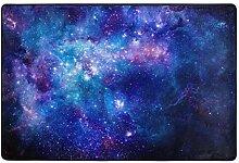 Fantazio Teppich mit Galaxie-Muster, gerader