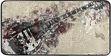 FANTAZIO Teppich mit Gitarrenmotiv, rutschfest,