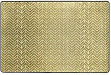 FANTAZIO Teppich mit glänzenden goldenen