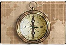 Fantazio Teppich mit goldenem Kompass auf