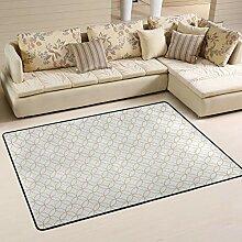 FANTAZIO Teppich mit goldenem überlappendem
