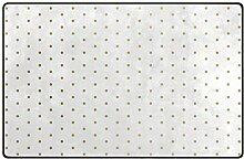 FANTAZIO Teppich mit goldenen Punkten, weißer