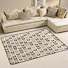 FANTAZIO Teppich mit goldfarbenen Blumen an einer