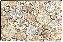 Fantazio Teppich mit Holztextur, gerader