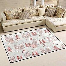 FANTAZIO Teppich mit Kiefernnadeln, gerader