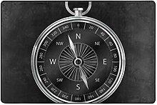 Fantazio Teppich mit Kompass-Hintergrund, gerader