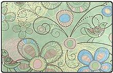 FANTAZIO Teppich mit lächelndem Vogelmuster,