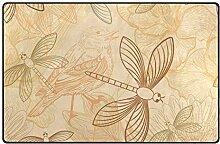 FANTAZIO Teppich mit Libellen-Muster,