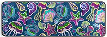 FANTAZIO Teppich mit Meeresquallen und Muscheln,