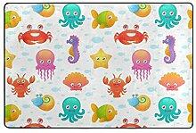 Fantazio Teppich mit Meerestier-Muster, gerader