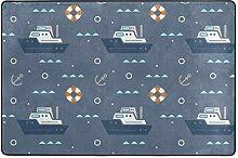 Fantazio Teppich mit nautischem Element, für