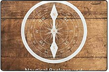 Fantazio Teppich mit nautischem Kompass,