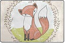 Fantazio Teppich mit niedlichem kleinen Fuchs,