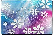 Fantazio Teppich mit niedlichen Blumen, gerader