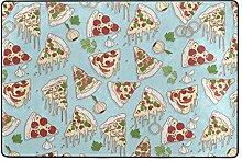Fantazio Teppich mit Pizza-Muster, gerader