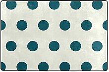 FANTAZIO Teppich mit Punkten, gerade, für Ecken