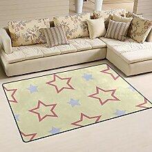 FANTAZIO Teppich mit rosafarbenen Sternen, lila,