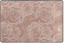 FANTAZIO Teppich mit Rosenschattierung, gerader