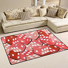 Fantazio Teppich mit roten Würfeln, gerader